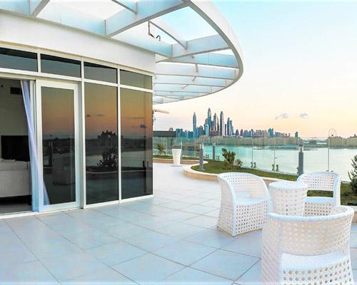 Luxus-Penthouse mit Blick mit traumhaftem Meerblick in Dubai